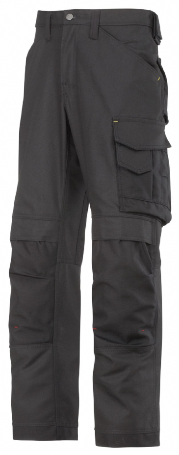 Snickers 3314 Canvas+ Craftsmen Trousers (Black / Black)